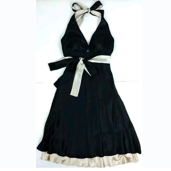 WHBM Silk Halter Empire Waist Cocktail Dress 1a6deab93